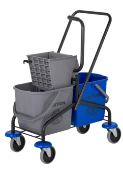 image of Double Bucket on Casters | NuFiber